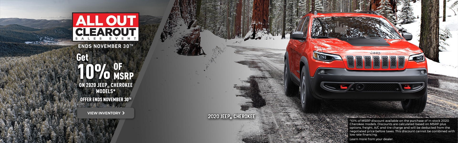 November 2020 JEEP CHEROKEE Offer