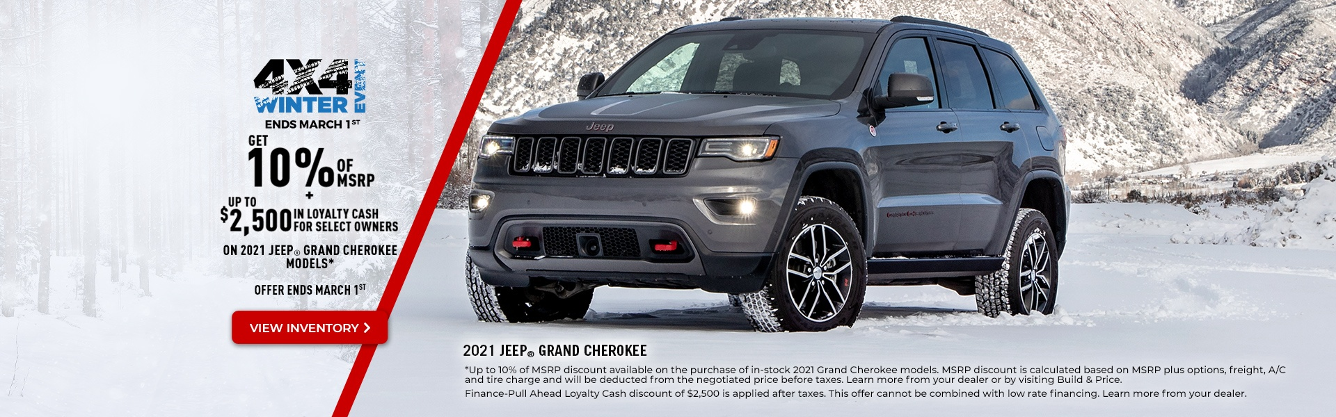 2021 Jeep Grand Cherokee Promotional Banner