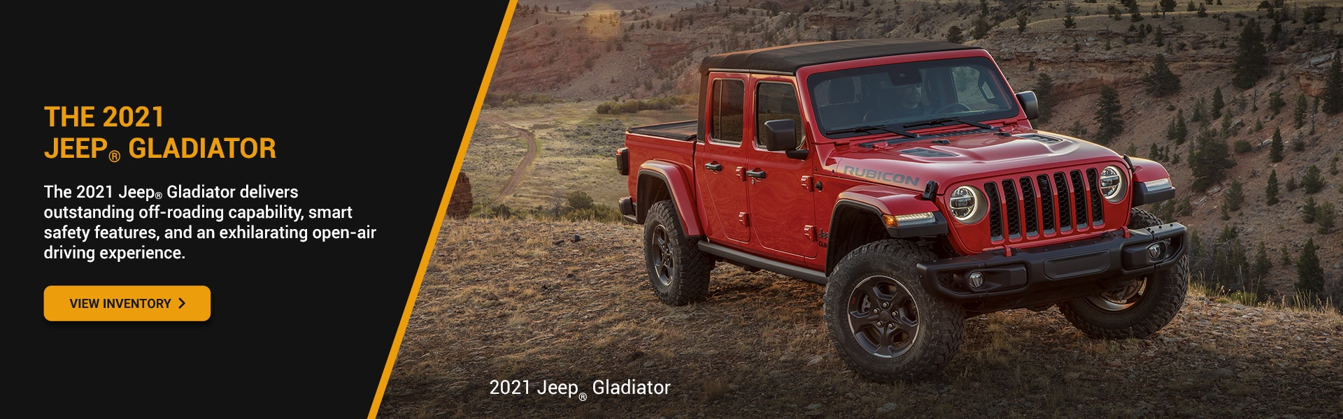 2021 Jeep Gladiator Promotional Banner