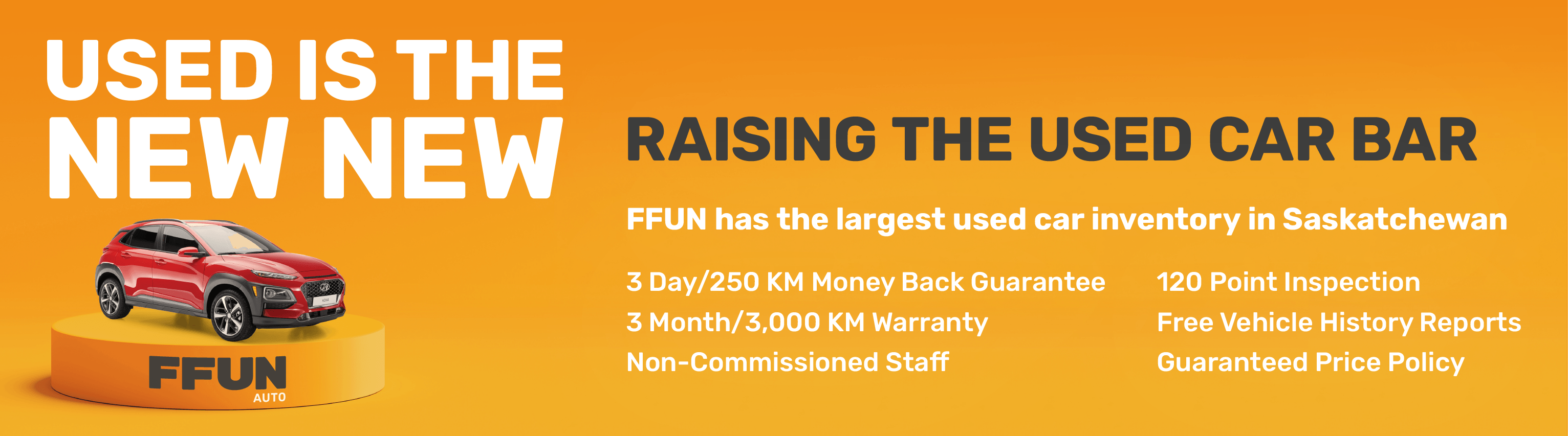 FFUN Pre-Owned Promise Banner